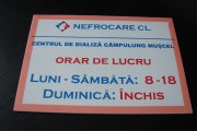 placa pvc cu autocolant orar Pretext Advertising