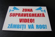 placa pvc cu autocolant supravegheare video Pretext Advertising